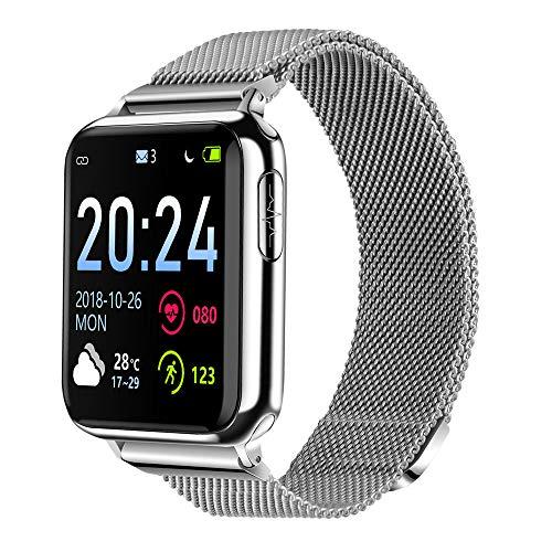 JAY-LONG Sports Fitness Watch, Fitness Tracker, ECG+PPG, Blood Oxygen Monitoring, Message Push, Call Reminder, Milan Steel Strap, Multi-Sport Mode, 200MAH,B
