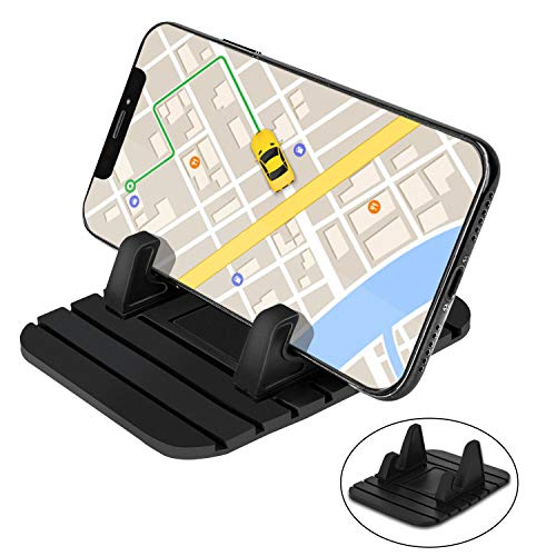 Universal Gps Holder - Car Silicone Dash Pad Mat, Universal Dashboard & Desktop Holder for Phones,Tablets, Mp3&Mp4 Player,GPS Navigator by pipigo