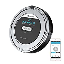 Robot Vacuum, Proscenic Suzuka Robotic Vacuum Cleaner with APP Control & Drop Detection Sensors for Hard Floor and Carpets, Auto Robot Sweeper with HEPA Filter for Pet Fur & Allergens