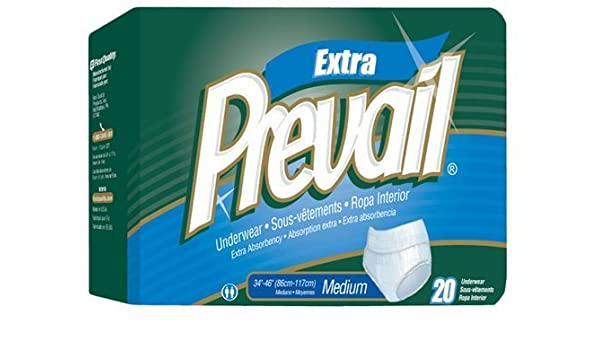 Amazon.com: Prevail Adult Underwear, EXTRA, Size Large, Full Case of 72 Briefs (146-2423) by Prevail: Health & Personal Care