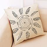 Weiliru Throw Pillow Cases Decorative Soft Geometric Style Throw Pillow Cover Cushion Case for Sofa 18 x 18 Inch