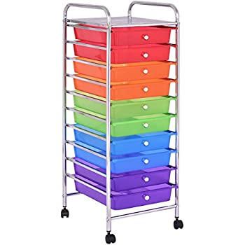 "Giantex 35 2/5"" 10 Drawer Rolling Storage Cart Scrapbook Paper Office School Organizer"