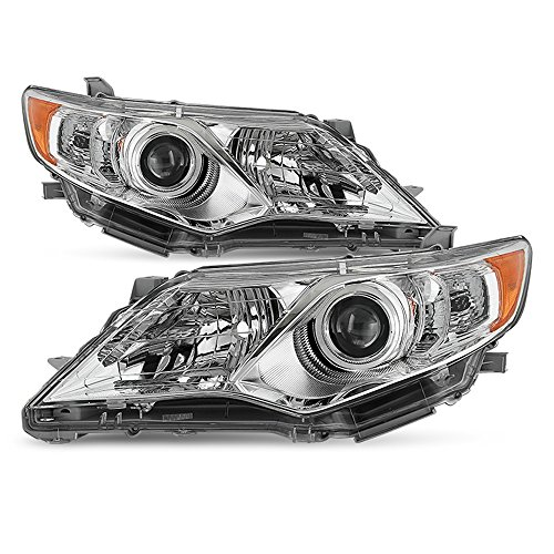 ACANII - For 2012-2014 Toyota Camry Projector Headlights Headlamps Replacement Driver + Passenger Side ()