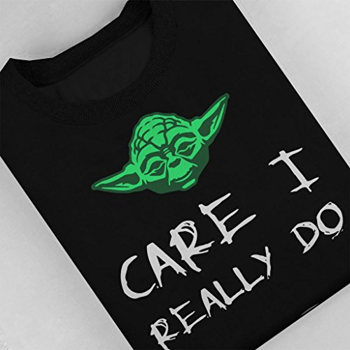 Melania Sweatshirt Yoda Women's Do Really Care Black Star Trump I Wars U wqCf0vxqra