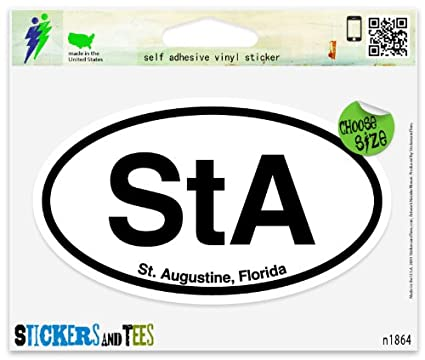 Sta st augustine florida oval car sticker indoor outdoor 5