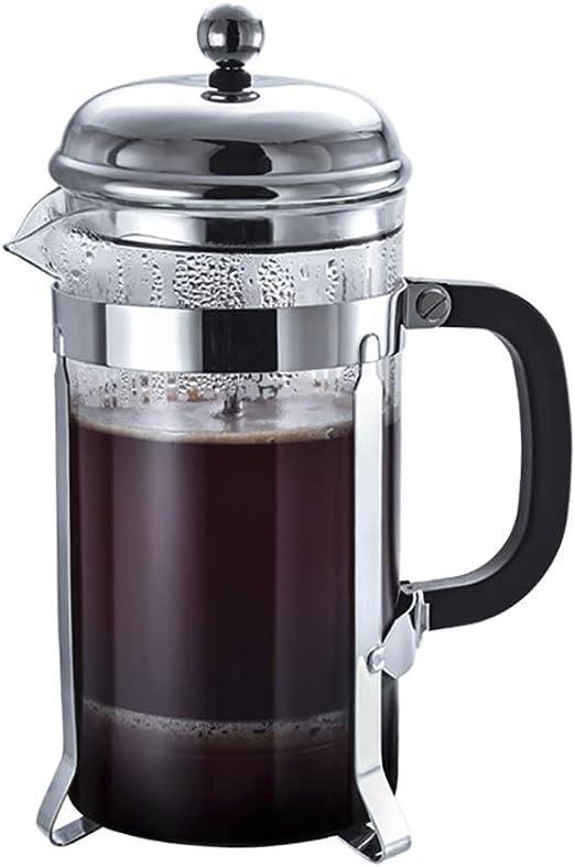 KAFEIHU Olla de presión de Vidrio de Boro de 1000 ml/cafetera de ...