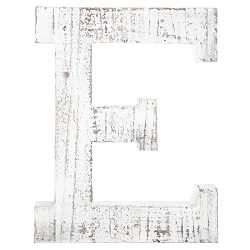 Distressed White Wood Ampersand Wall Décor / Free Standing Monogram ...