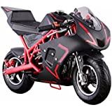 40CC4-Stroke Gas Power Mini Pocket Motorcycle Ride-on, Red/Black, EPA Certificated