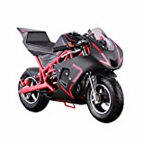 40CC 4-Stroke Gas Power Mini Pocket Motorcycle Ride-on, Red/Black, EPA Certificated