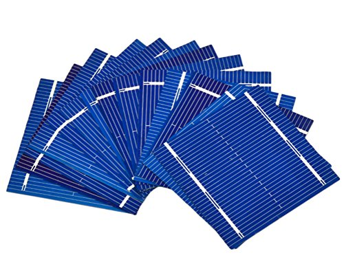 51MnmBGWmrL - Aoshike 100pcs 52 x 52mm/2x2inches micro mini Solar cells panels 0.5V 0.46W Polycrystalline Silicon Solar panels DIY Cell Phone Charging Battery
