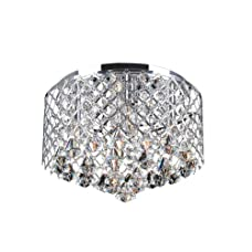Jojospring Nerisa Crystal Flush Mount Chandelier