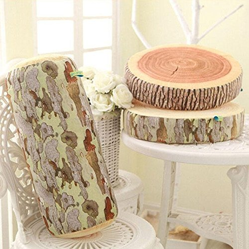 Wooden Molded Rest - Novelty Stump Log Wood Throw Pillow Sycamore Tree Cushion Home Office Car Soft Decor - Forest Formed Woody Wrought Woodwind - 1PCs