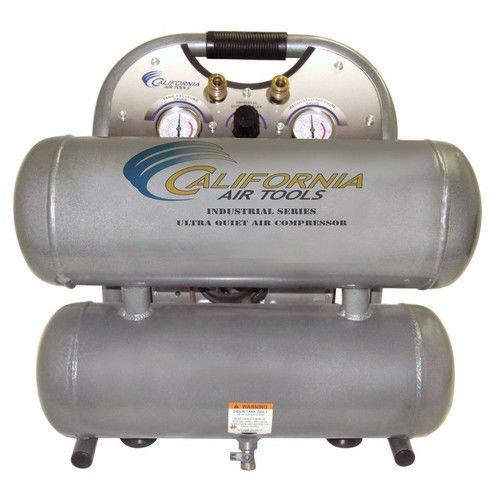 California Air Tools CAT-4610ALFC 1 HP 4.6 Gallon Ultra Quiet Aluminum Twin Tank Air Compressor