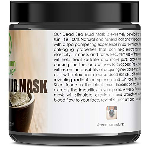Dead Sea Mud Mask for Face and Body - 8.8 oz Melts Cellulite Treats Acne Strech Mark Removal - Deep Detox Cleaning Mask Pore Minimizer and Wrinkle ...