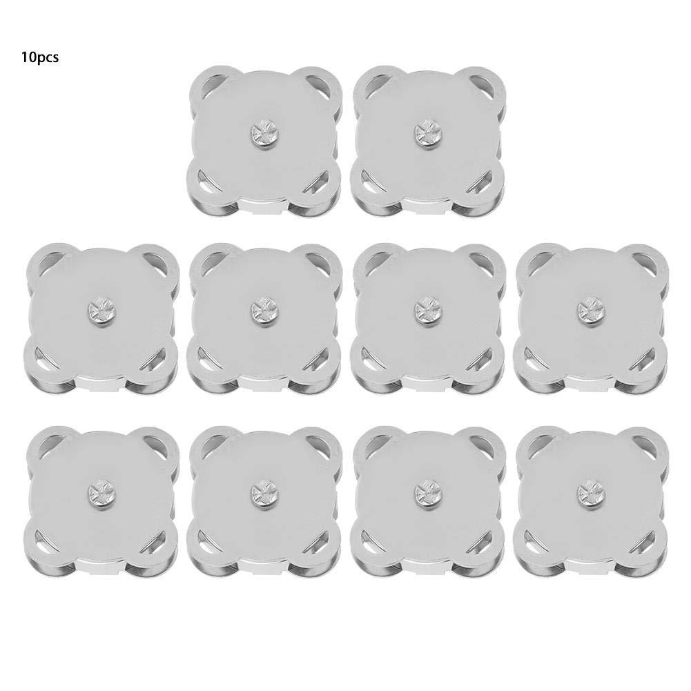 HEEPDD 10 pcs 18.5mm magn/étique Fermoir /à Bouton Pression pour la Couture Artisanale Sacs /à Main Sacs v/êtements en Cuir Blanc brillant18.5mm