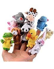 CHSYOO 10 x Kleine Dier Vingerpoppetjes Pluche Cartoon Handpop Speelgoed, Cadeau voor Kinderen Verjaardag Kids Party Doop Baby Shower