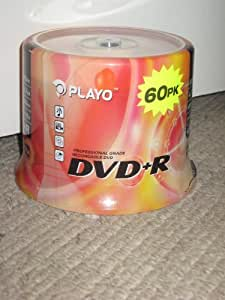 Playo DVD+R (1-16x ) 60pcs Spindle Pack