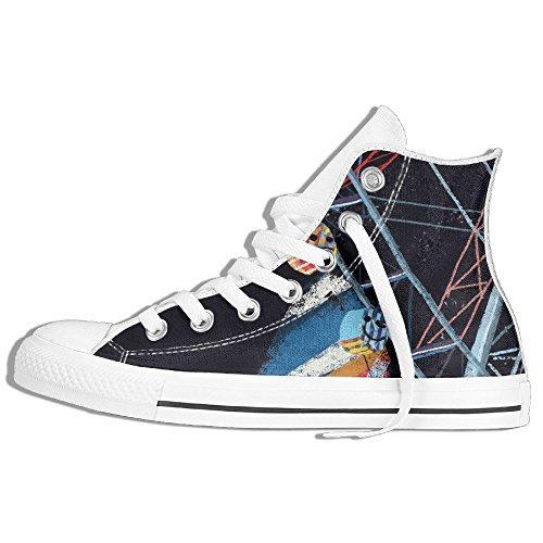 4 Person Family Halloween Costumes (Ferris Wheel Night High-Cut Canvas Shoes Unisex Stylish Sneaker All-Season Casual Hi-Top Trainers For Men And Women ColourName Sizekey)