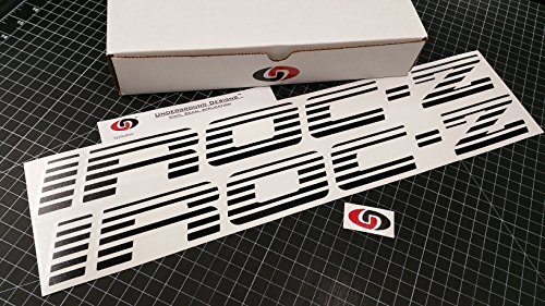 (UNDERGROUND DESIGNS IROC-Z Faded Blind Door Decals Third Gen Camaro Stickers Select Color: (Matte Blackout, 2.0