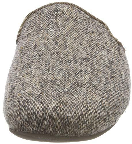 Braun mit Pantoffeln Living Tweed Damen Pantoffel 240 Kitzbühel Kaschmir Tweed RWSwA