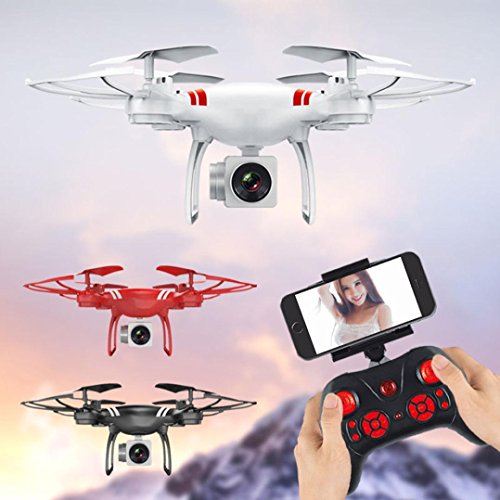 Dirance KY101 RC Quadcopter Drone WiFi FPV Live Helicopter,Headless Mode and One Key Return Home,Color Black White Red (Red) by Dirance