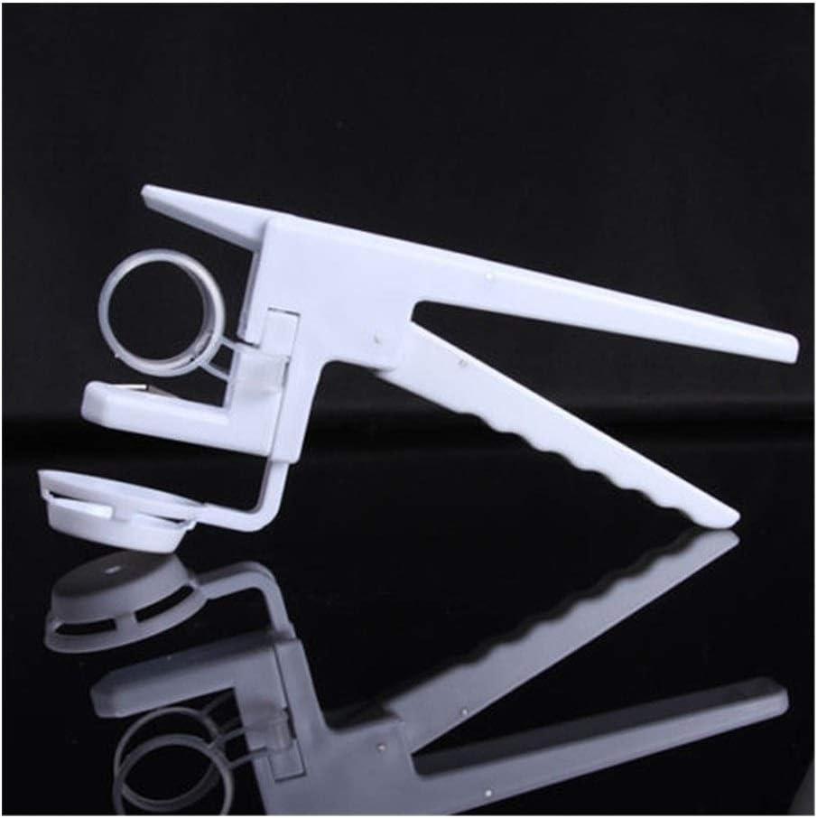 GGLLBL Kreative Hand Ei-Cracker Separator tragbaren Kunststoff-Handbuch Eggbeater Küche Egg Werkzeuge Hausgeräte Küchenzubehör (Color : White) White