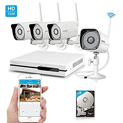 SpyGear-Zmodo Wireless Indoor Outdoor Smart Home Security Camera System 4CH NVR System 1TB Hard Drive - Zmodo