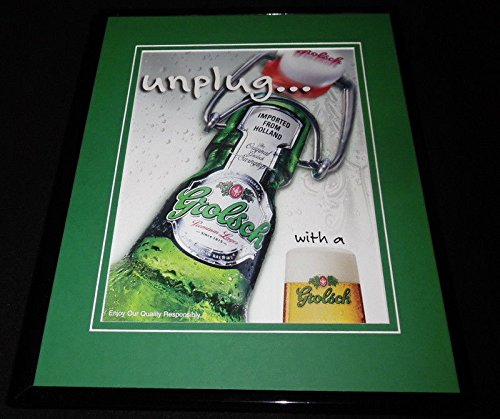 2005 Grolsch Lager Beer 11x14 Framed ORIGINAL Advertisement Grolsch Lager