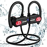 Bluetooth Headphones Waterproof IPX7, Wireless Earbuds Sport, Richer Bass HiFi Stereo In Ear Running Earphones w/ Mic, Noise Cancelling  Headset for Workout, Travel, Gym, 10 Hrs Play Time