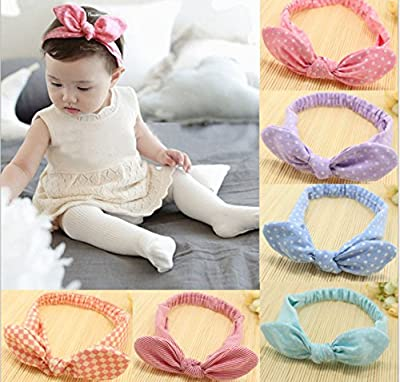 Baby's Headbands Girl's Cute Hair Bows Hair bands Newborn headband Pack of 6