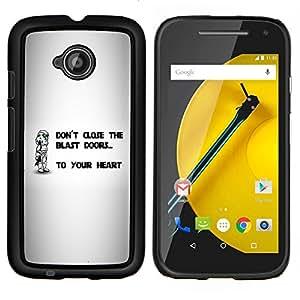 """Be-Star Único Patrón Plástico Duro Fundas Cover Cubre Hard Case Cover Para Motorola Moto E2 / E(2nd gen)( No cierre la explosión Puertas"""" )"""