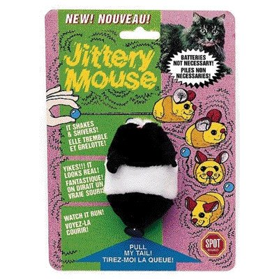 Plush Jittery Mouse Cat Toy [Set of 2]