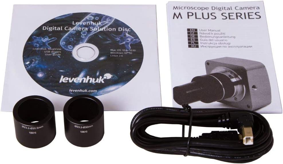 Comes with Necessary Software Compatible with Mac, Linux and Windows Levenhuk M200 Base Digital Camera for Microscopes