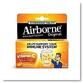 Airborne Effervescent Health Formula, Original Orange, 10 Tablets (Pack of 3)