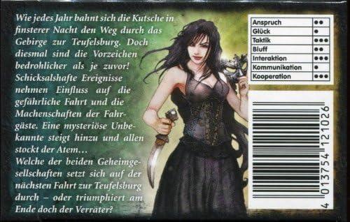 Adlung Spiele ADL01026/Kutschfahrt Zur Teufelsburg Die Dunkle Prophezeihung Expansion Card Game