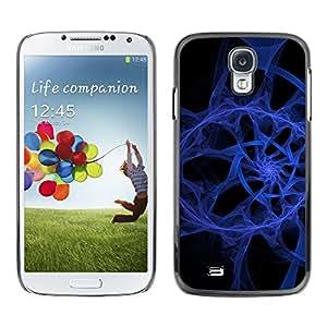 Be Good Phone Accessory // Dura Cáscara cubierta Protectora Caso Carcasa Funda de Protección para Samsung Galaxy S4 I9500 // Abstract Blue Spiral