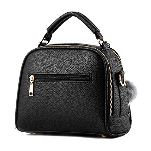 Bags Shoulder Bag Purse Leather Gray Messenger Top FUNOC Pu Handle Women Tote Handbag Fashion Satchel qxf8wv4O0