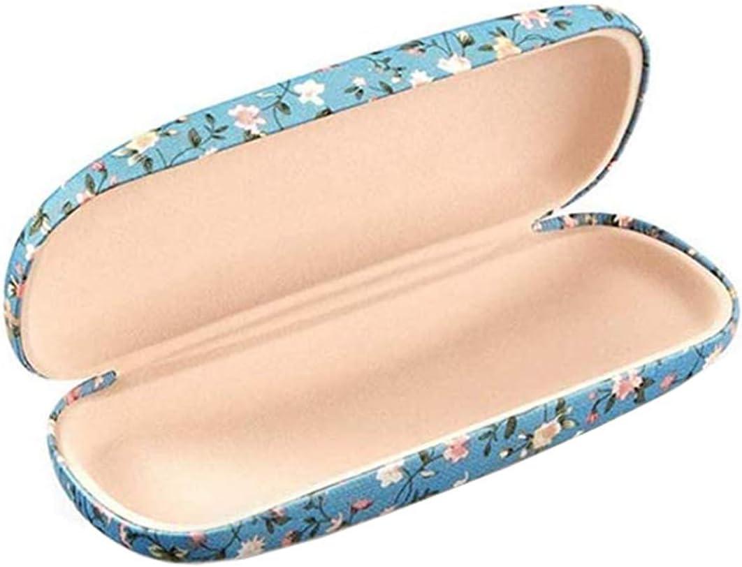 Fiyuer Custodia per Occhiali 8 PCS Custodia Rigida Occhiali Custodia Antiurto Portatile Panno per Occhiali Microfibra Box Retro Floreale