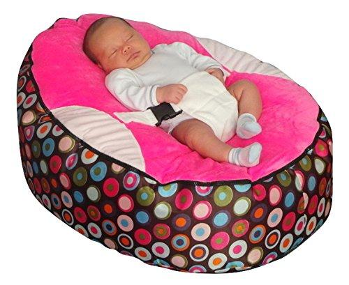 Funda de almohada para cama con mangas para bebé Rosa y el logotipo bolsa para raquetas de tenis SHL mecedora interactiva tipo libro con función de relleno de bolitas de Mama Baba