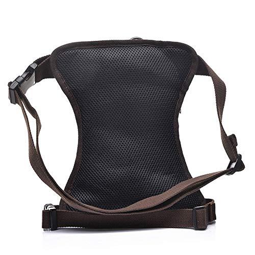 DingXiong 2017 Fashion Vintage Waterproof Canvas Waist Pack Leg Bag Casual Men Fanny Trunk Military Bum Thigh Hip