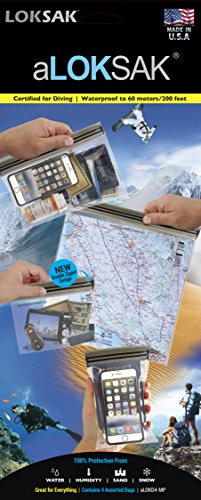- aLokSak Waterproof Touchscreen Bag 4-Pack - No BPA