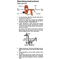 General Pipe Cleaners Spin Thru Drain Auger - instructions