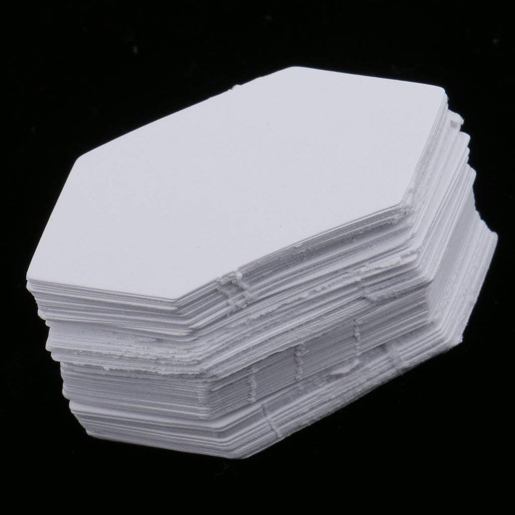 Wacemak1r 200 Pieces Hexagon Shape Paper Quilting Template Paper Piecing for Patchwork