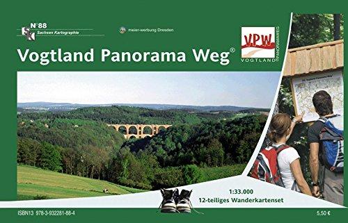 Vogtland Panorama Weg: Wandertourenführer 1:33 000. 12-teiliges Wanderkartenset