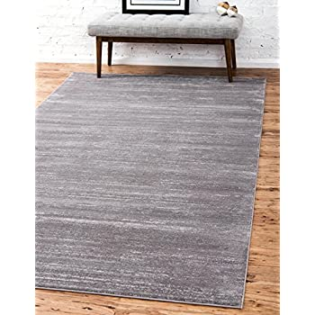 Unique Loom Uptown Collection by Jill Zarin Collection Textured Modern Gray Area Rug (5' 0 x 8' 0)