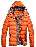 oster dry iron - LemonGirl Mens Warm Waterproof Down Alternative Jacket Hood Winter Outwear Coat