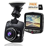 Loremante Dash Cam with 16gb Micro SD Card | Dashboard Camera for Cars, Front Mirror Mount | Hardwire Kit GPS Recorder 360 Econoled Loop Recording, Parking Mode | G-Sensor: Win Your car disputes