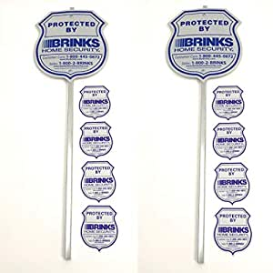 2 Authentic Reflective Home Security Signs and 8 Refective Stickers