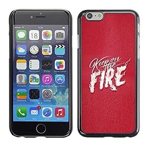 All Phone Most Case / Hard PC Metal piece Shell Slim Cover Protective Case Carcasa Funda Caso de protección para Apple Iphone 6 Pink Fire Text White Flames Love Heart