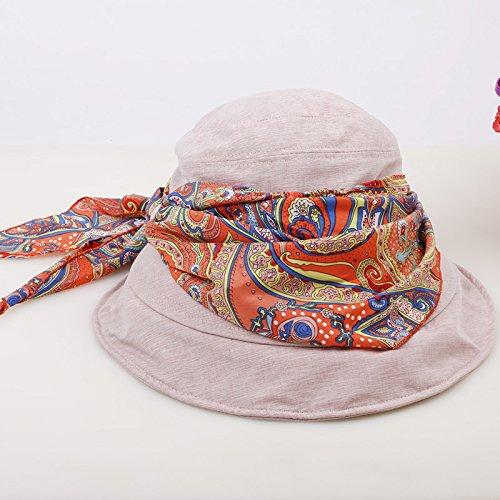 Dark Beige Women's Adjustable Beach Floppy Sun Hat